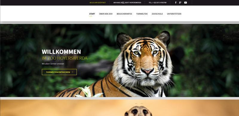 Zoo präsentiert neue Webseite