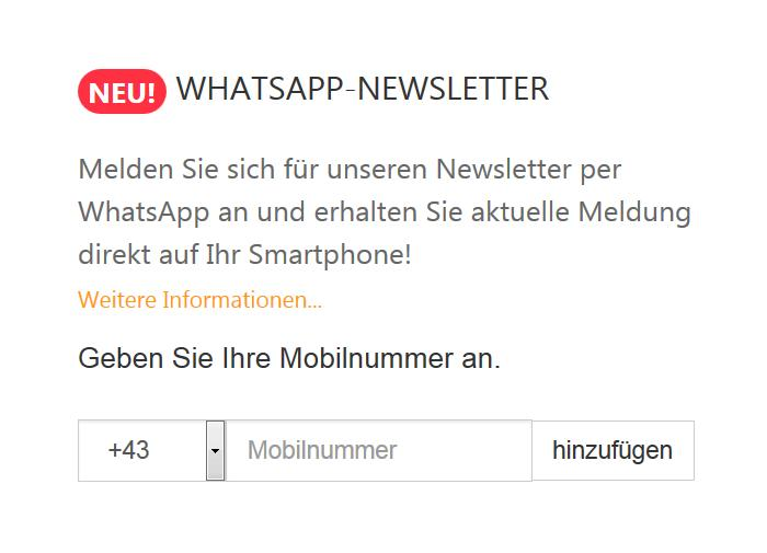 Neues Feature: WhatsApp-Newsletter