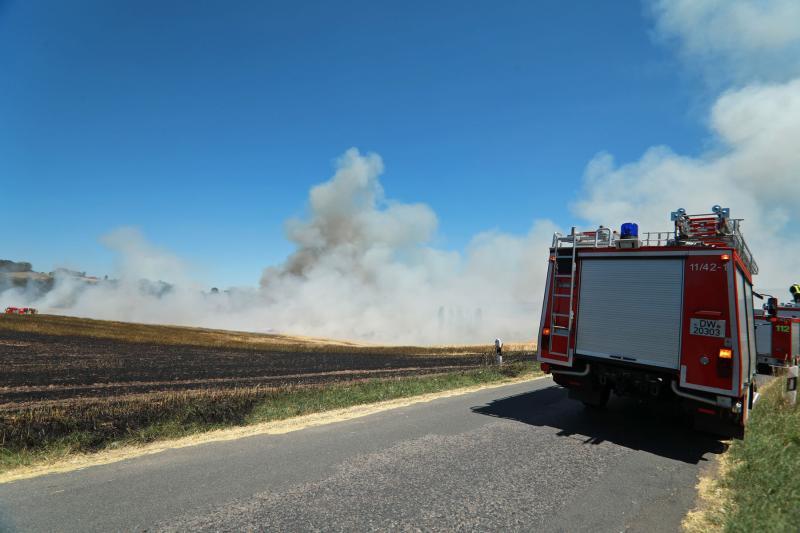 3 Hektar Feld abgebrannt