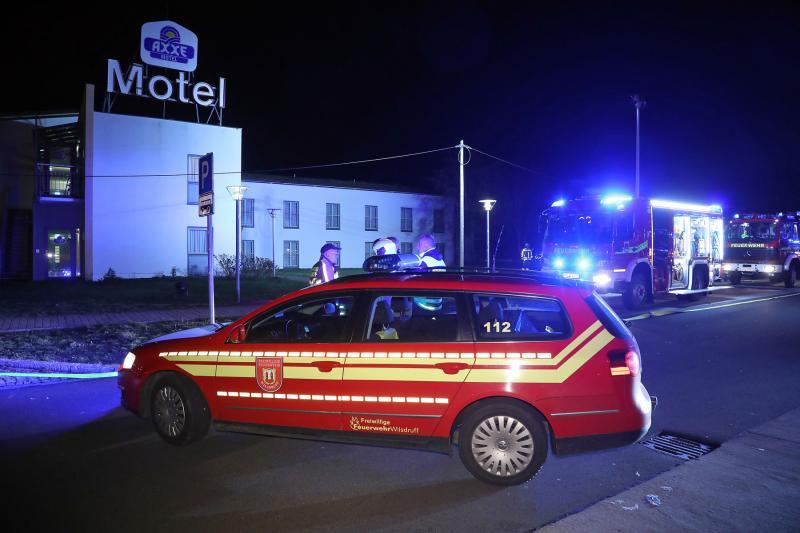 Feuerwehr trainierte in Motel an der Autobahn