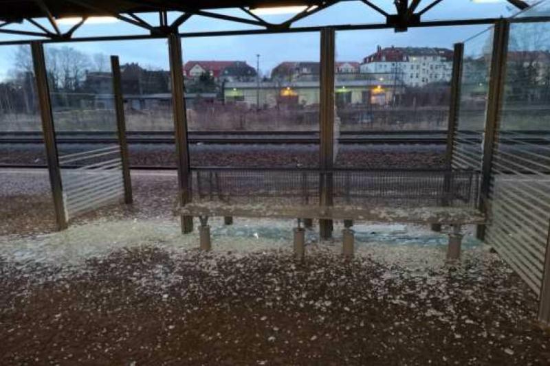 Vandalismus am Bahnhof