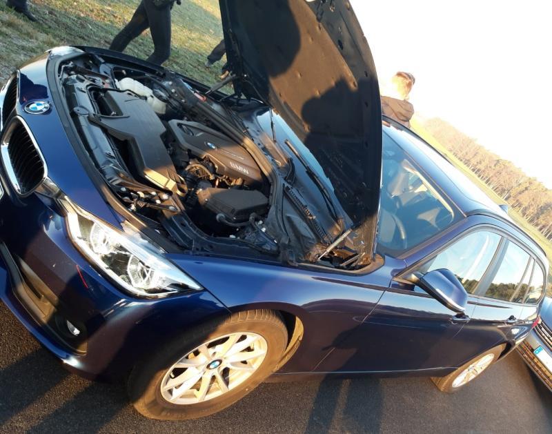 Gestohlenen BMW samt Täter gestellt