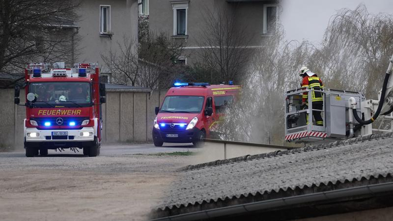 Maschine brennt in Textilfabrik: Großeinsatz der Feuerwehr