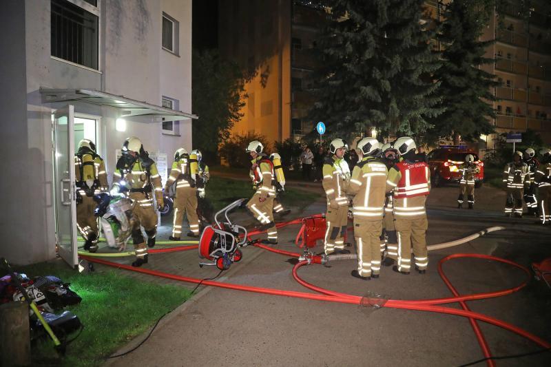 Kellerboxen brannten in Gorbitz
