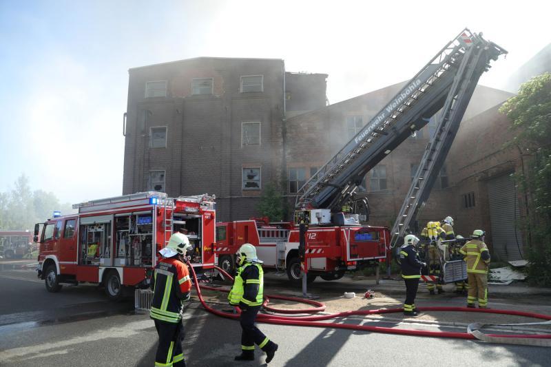 Brand auf ehemaligem Fabrikgelände