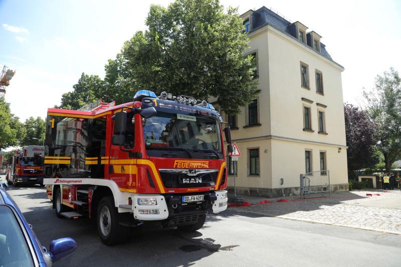 Bagger beschädigte Erdgasleitung  Wohnhäuser geräumt