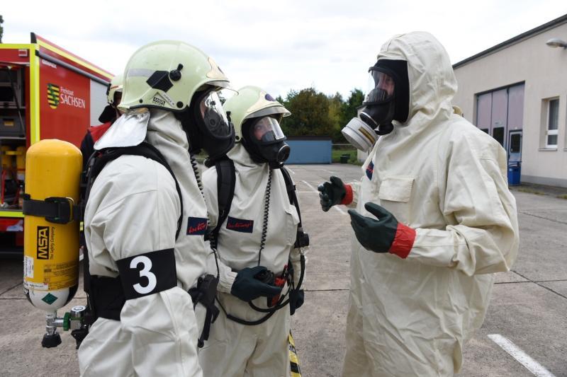 Einsatz im Strahlenlabor der Hochschule - Feuerwehr probt den Ernstfall