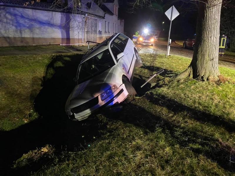 Pole flüchtet nach Unfall