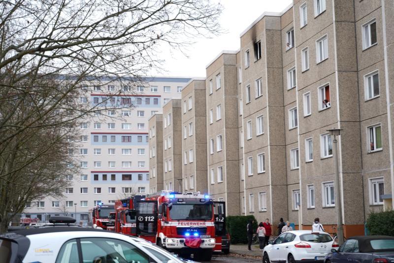 Wohnungsbrand in oberster Etage