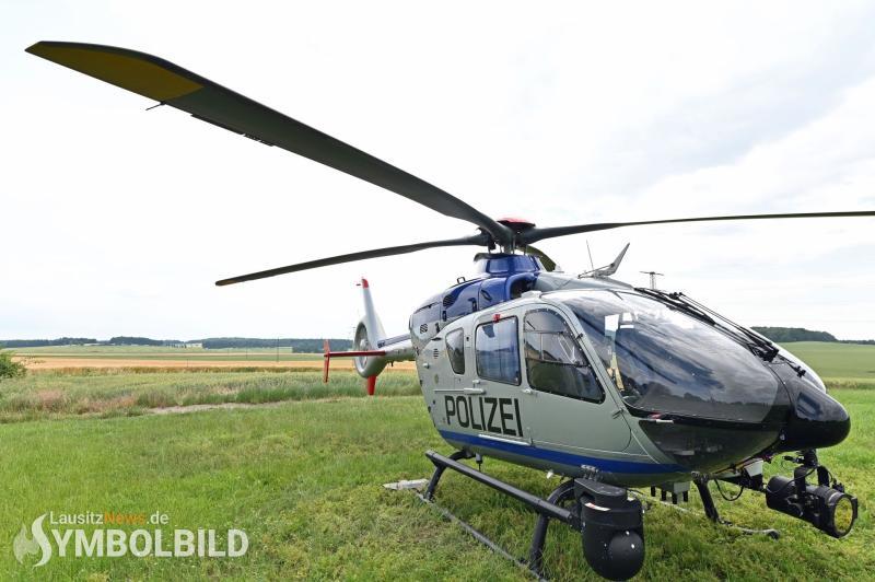 Nächtlicher Hubschraubereinsatz bei Görlitz - mutmaßliche Schmuggler gestellt