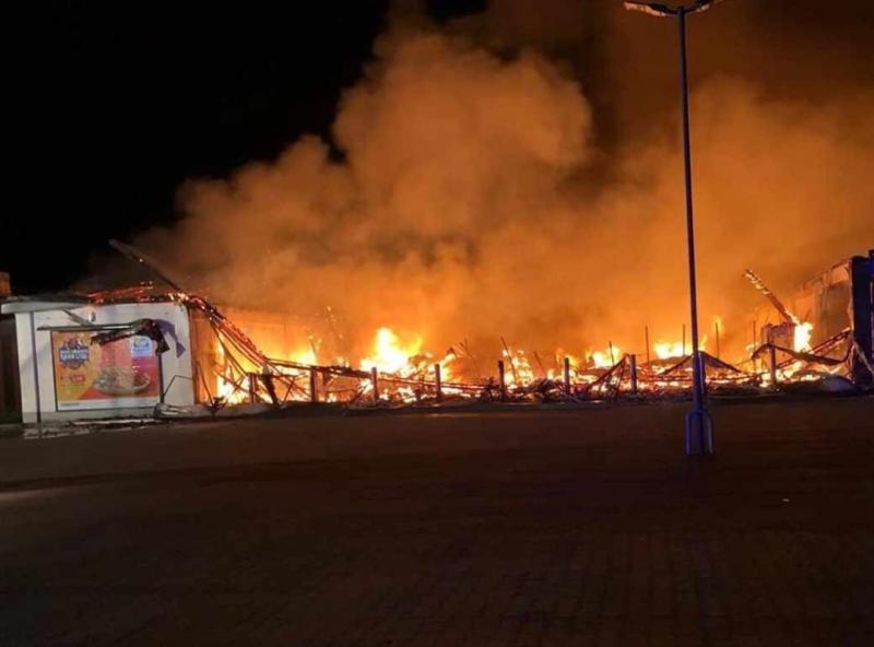Feuer vernichtet Discounter