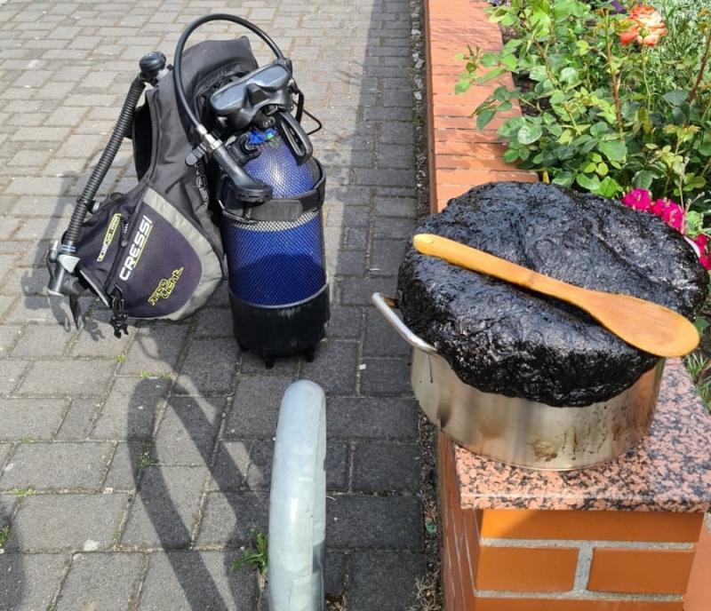 Hobbytaucher wird zum Brandschutzhelfer
