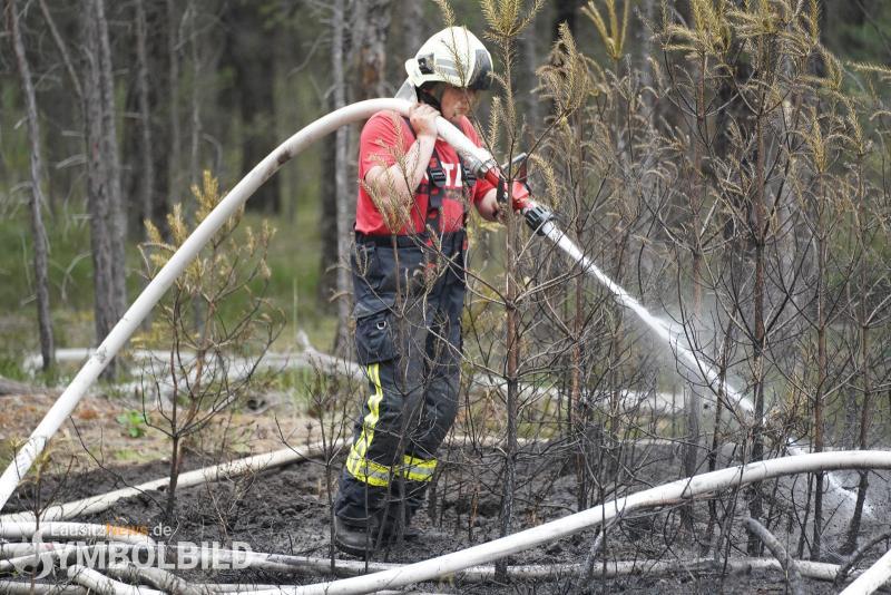 Feuerwehr rückt zu Waldbrand aus