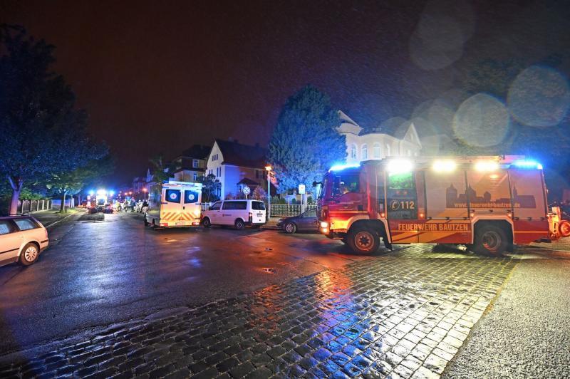 Feuerwehreinsatz im Villenviertel