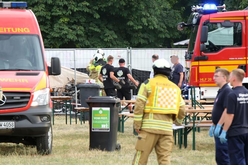 Imbiss brannte bei Streetfoodfestival - 1 Schwerverletzter