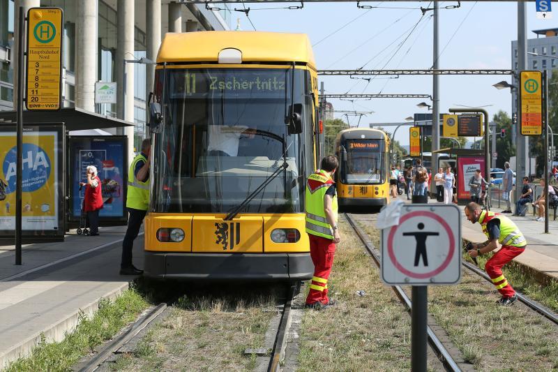 Fußgängerin kollidierte mit Straßenbahn