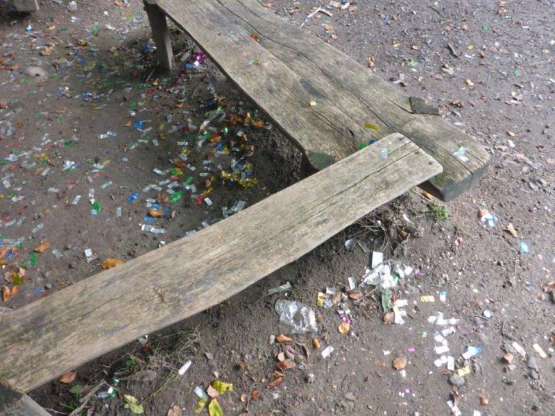 Konfettiabfall an Landeskrone hinterlassen - Zeugen gesucht