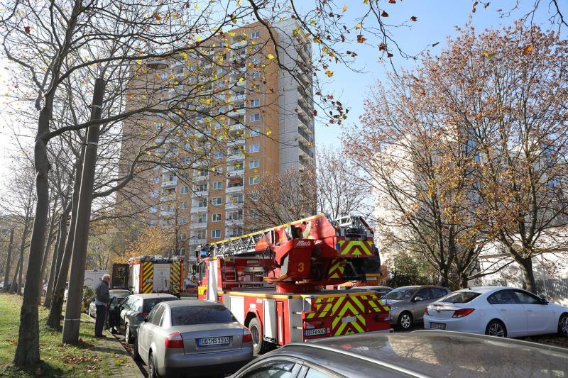 Wohnungsbrand im 15. Obergeschoss