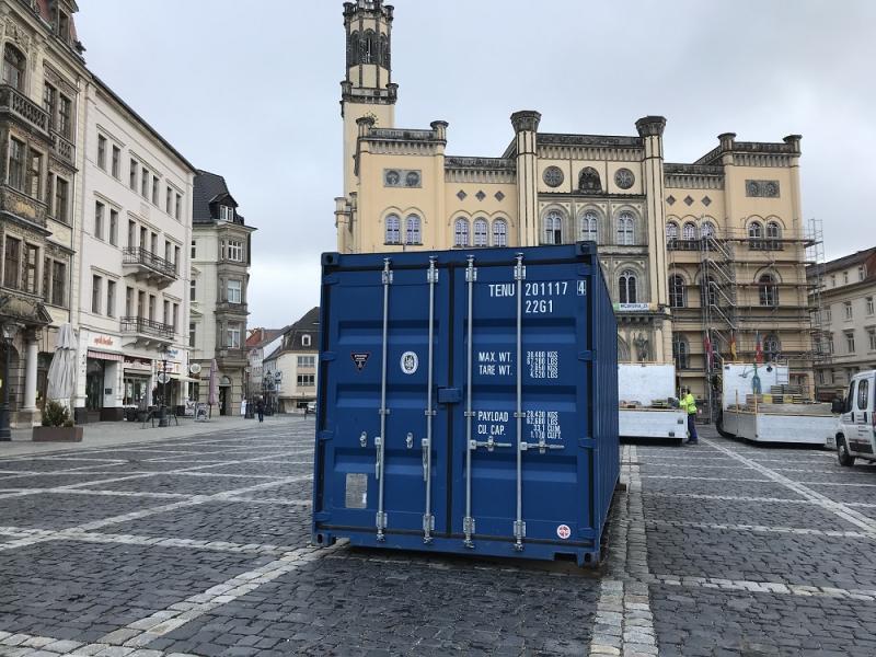 Kunstaktion auf Zittauer Markt: Container im Unterricht?