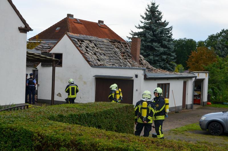 Propangasflasche explodiert in Nebengebäude